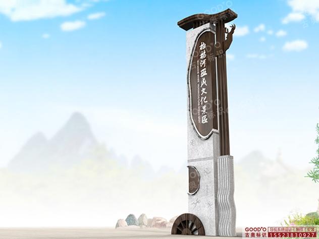 柏杨河巫咸文化导视系统设计制作